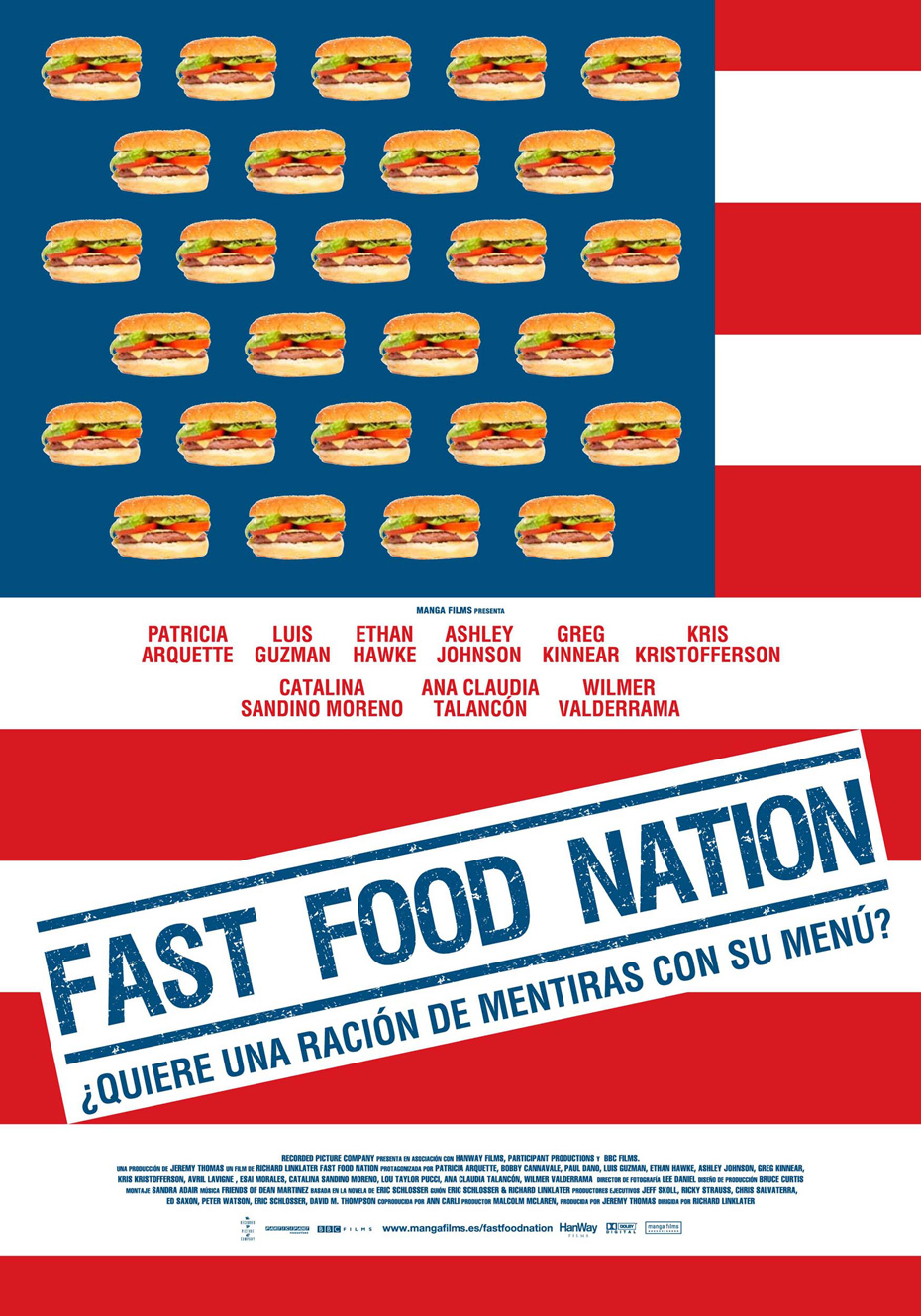 food nation Plot don anderson is the mickey's hamburger chain marketing director who helped develop the big one, its most popular menu item when he learns that independent research has discovered a considerable presence of fecal matter in the meat, he travels to the fictitious town of cody, colorado to determine if the local uni-globe meatpacking processing plant, mickey's main meat supplier, is.