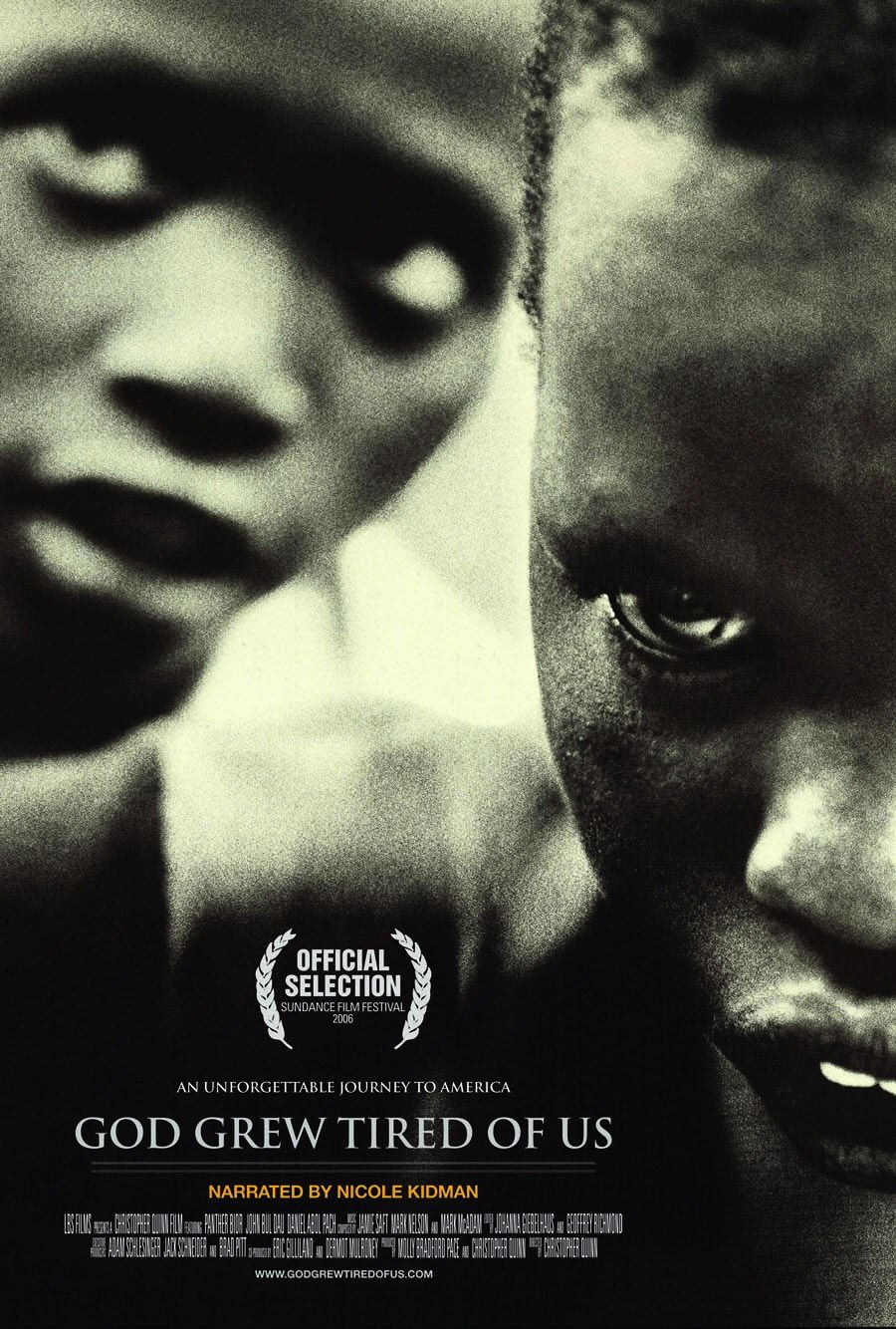 god grew tired of us a An award-winning, critically acclaimed documentary, narrated by nicole kidman, god grew tired of us explores the indomitable spirit of three 'lost boys' from the sudan who are forced to leave their homeland due to a tumultuous civil war the documentary chronicles their triumph over seemingly insurmountable adversities and relocation to america.