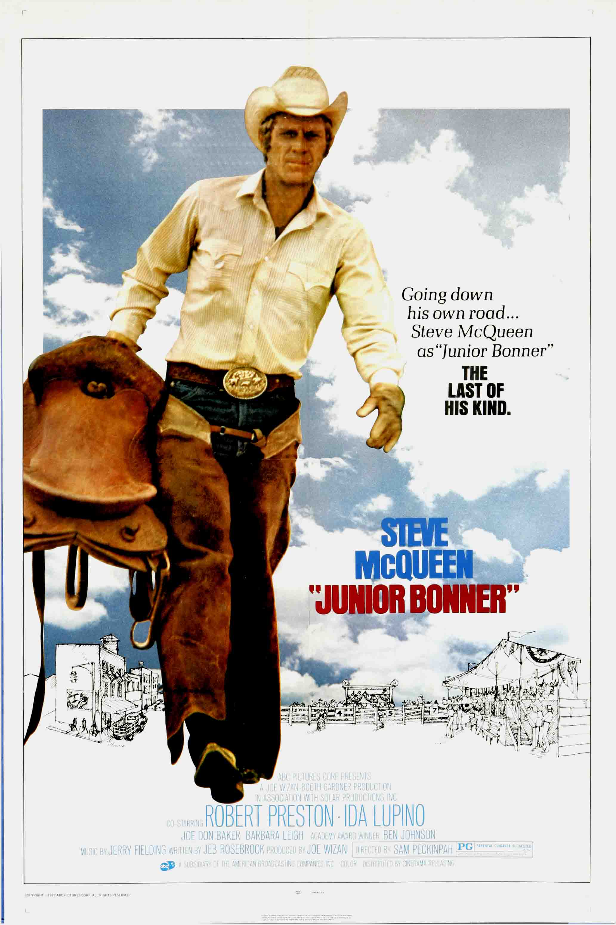 Junior Bonner El Rey Del Rodeo Junior Bonner 1972